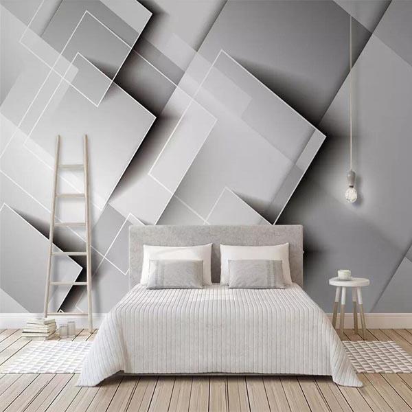 کاغذ دیواری با طرح مربع